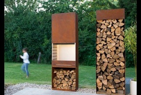 barbecue tole bois belgique acier corten design r sistant. Black Bedroom Furniture Sets. Home Design Ideas