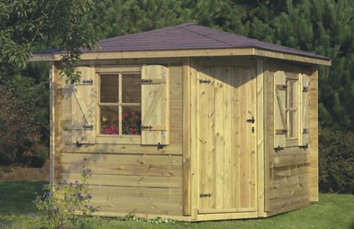 chalet ou abri de jardin classique par mega abris. Black Bedroom Furniture Sets. Home Design Ideas