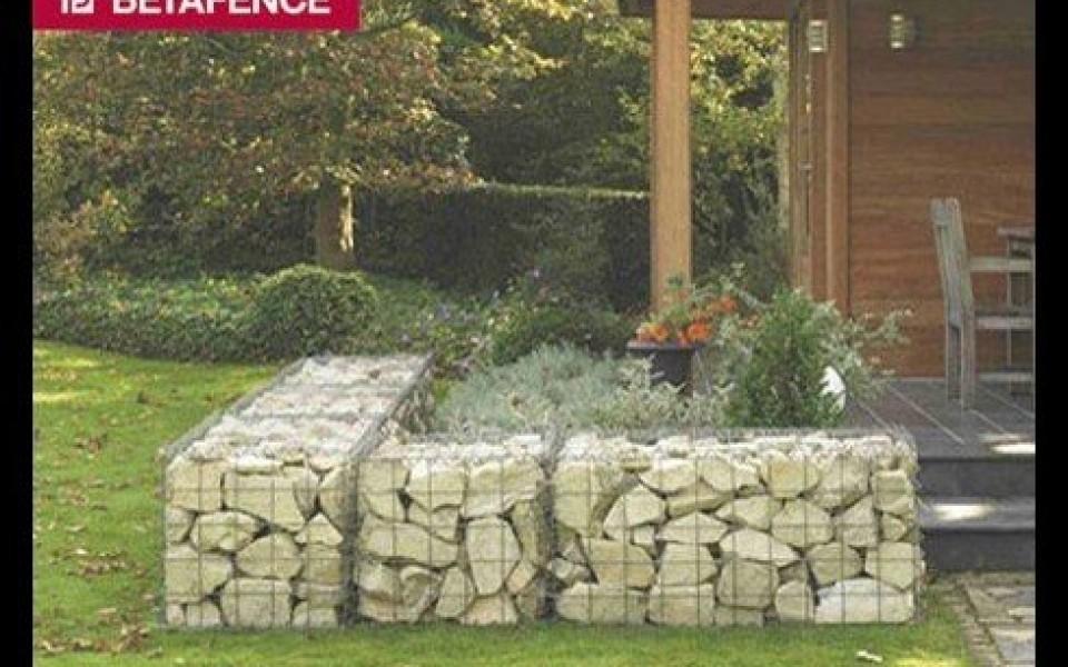 gabions mur en pierre mur d coratif betafence prix bel. Black Bedroom Furniture Sets. Home Design Ideas