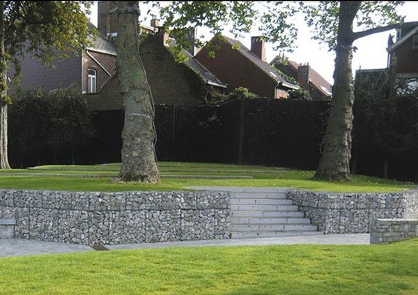 Gabions d coratifs betafence for Decoration jardin gabion
