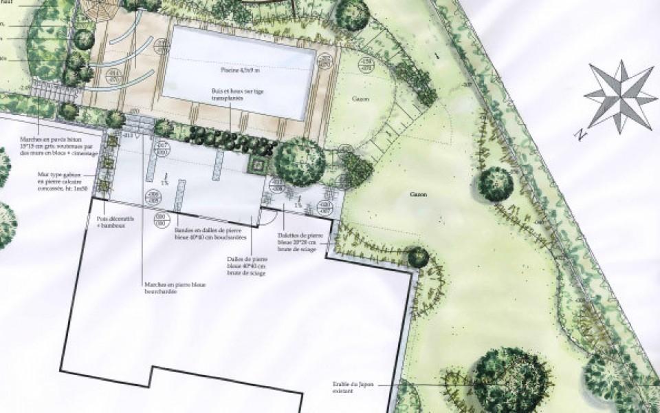 Paysagiste architecte de jardin et parc uccle ohain for Realisation paysagiste jardin