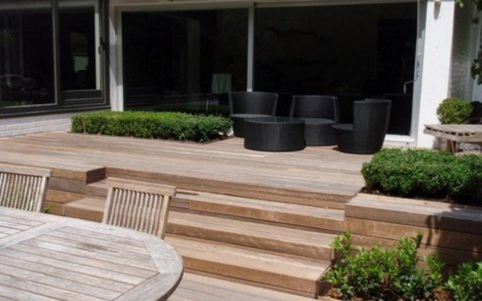 Terrasse en bois waterloo uccle grez doiceau - Terrasse avec jardin reims ...