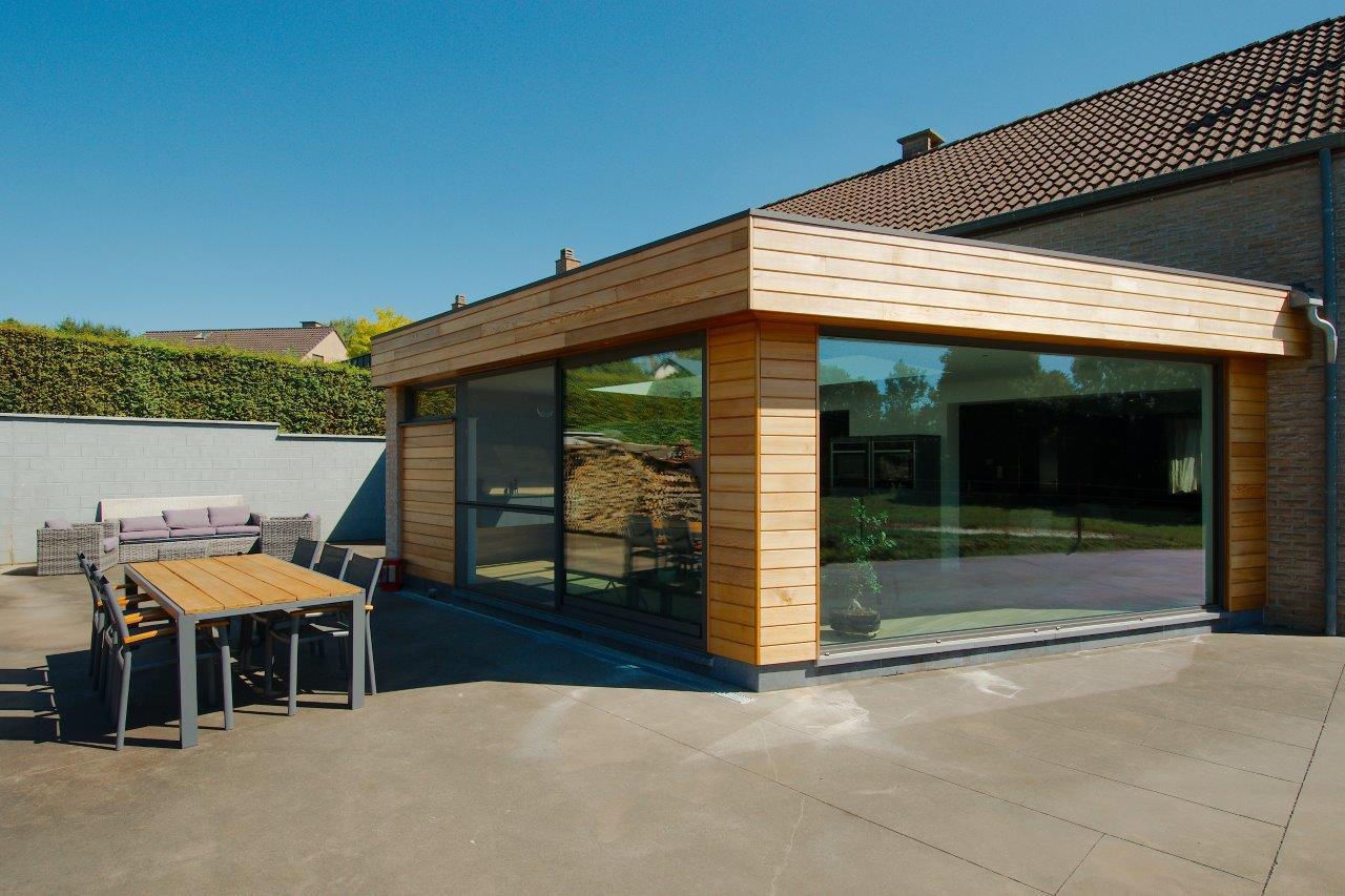Prix v randa bois belgique maison passion - Decor jardin maison pau ...