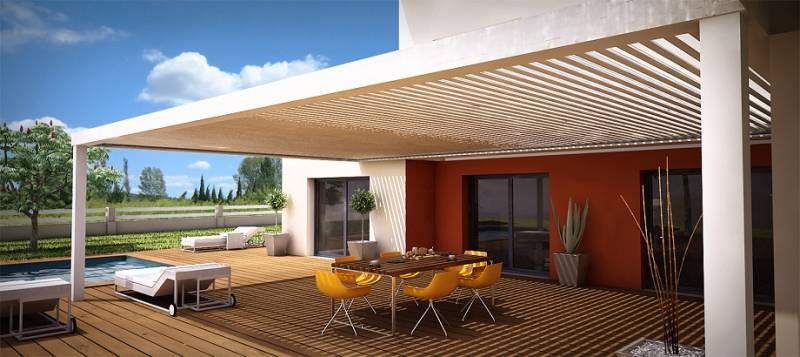 la pergola lames orientables. Black Bedroom Furniture Sets. Home Design Ideas