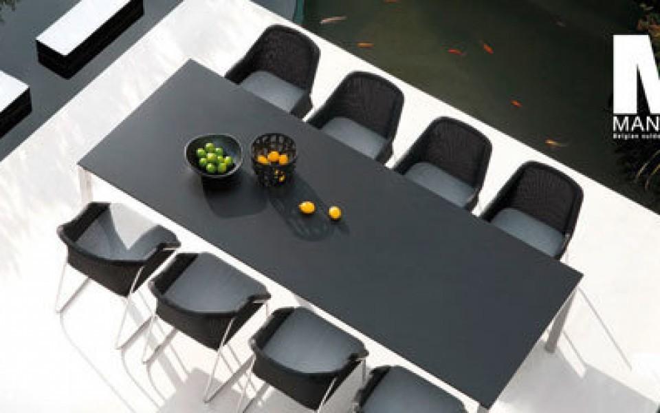 Table et chaises de Jardin en Teck et Alu à Liège – Jardin et ...