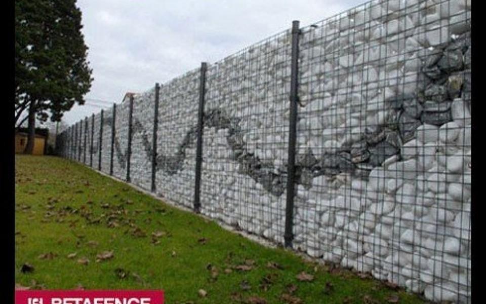 gabions mur en pierre mur d coratif betafence prix bel mur d coratif. Black Bedroom Furniture Sets. Home Design Ideas