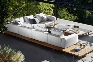 Tribu sofa de jardin en teck