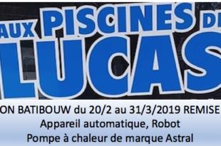 Aux Piscines de Lucas: Promotion Batibouw 30%